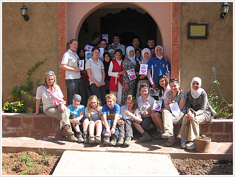 BGS students with the girls at Dar Asni